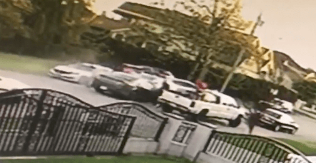 Security camera catches dangerous driving and assault in Surrey (VIDEOS)