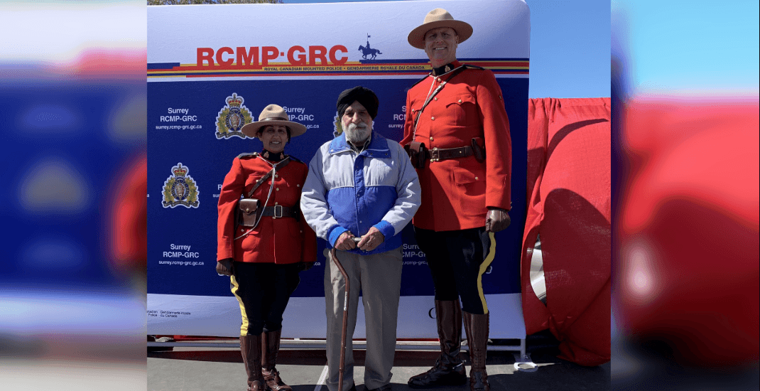 Surrey RCMP want to reward this adorable senior for what he did at the Vaisakhi Parade