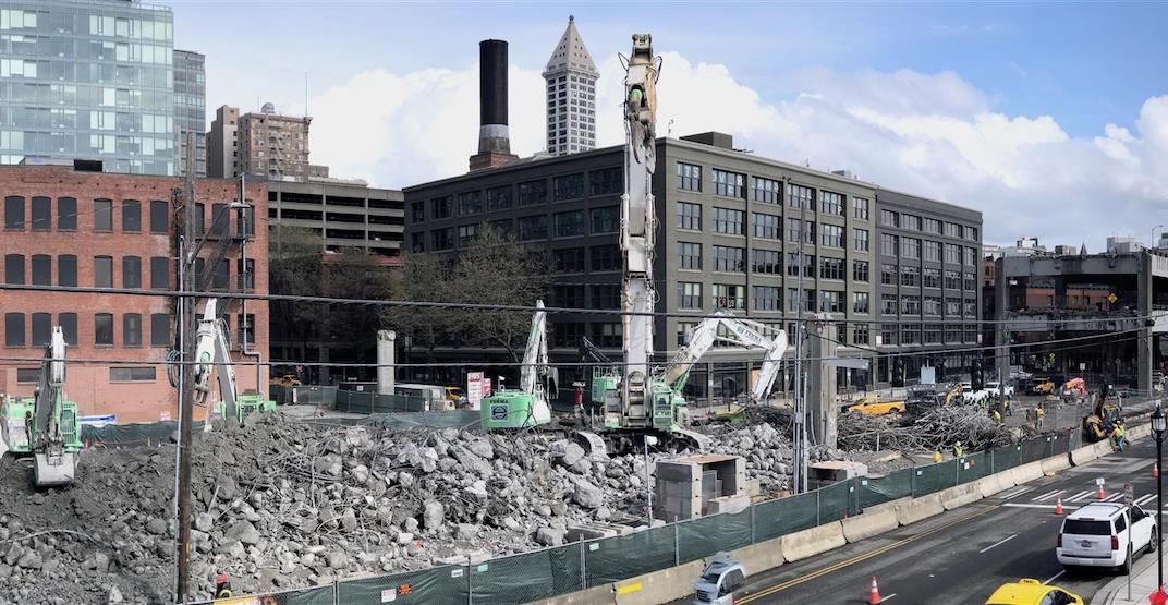 Demolition work on Seattle's Alaskan Way Viaduct well underway (PHOTOS, VIDEO)