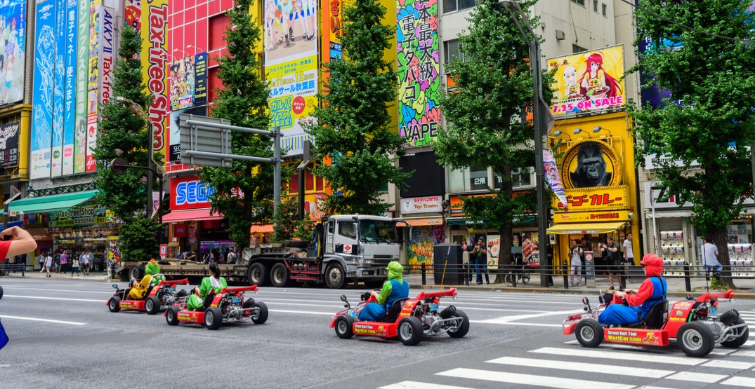 You can ride a real life Mario Kart through the streets of Tokyo