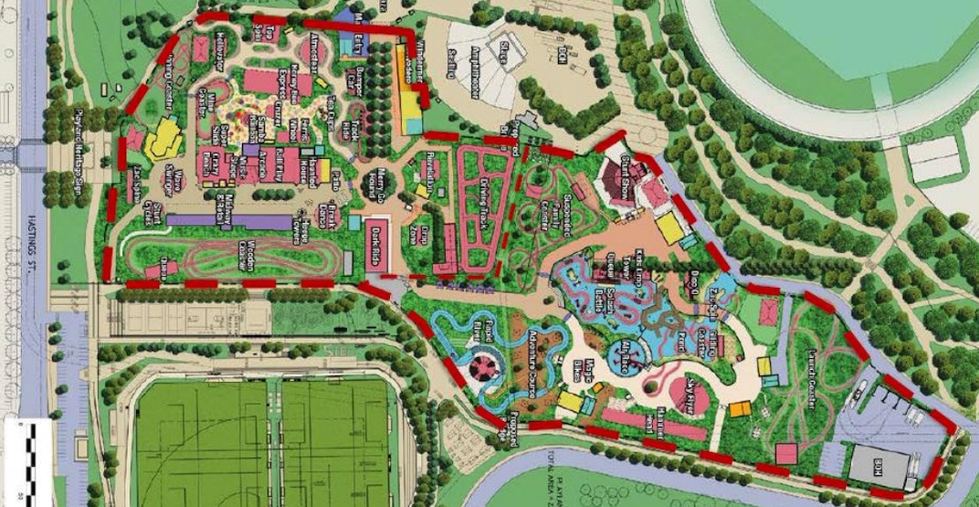 Map Of Canadas Wonderland 2017.Playland S Big Renovation And Expansion Could Begin In 2022 Urbanized