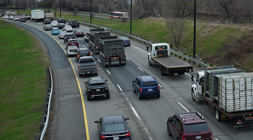 Convoy of trucks currently protesting along GTA highways (VIDEO)