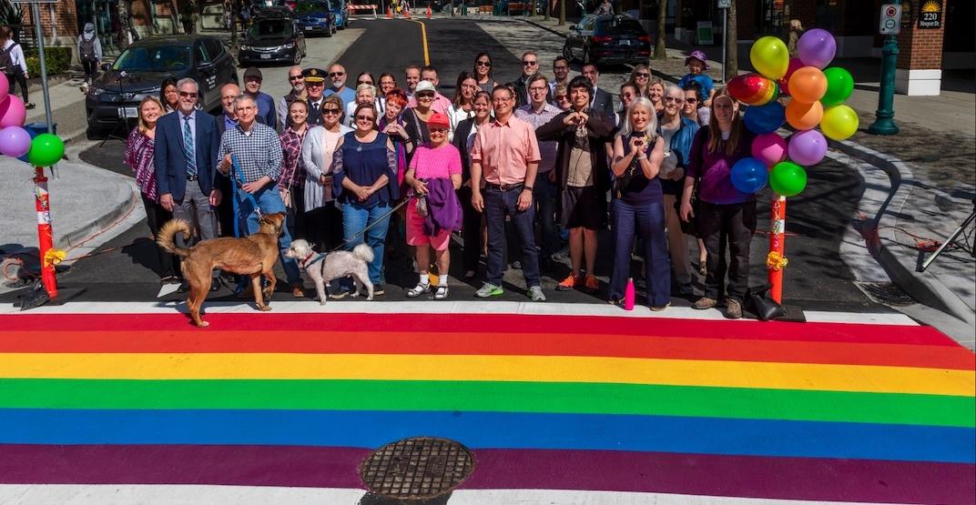 Port Moody unveils new rainbow crosswalk celebrating the LGBTQ community
