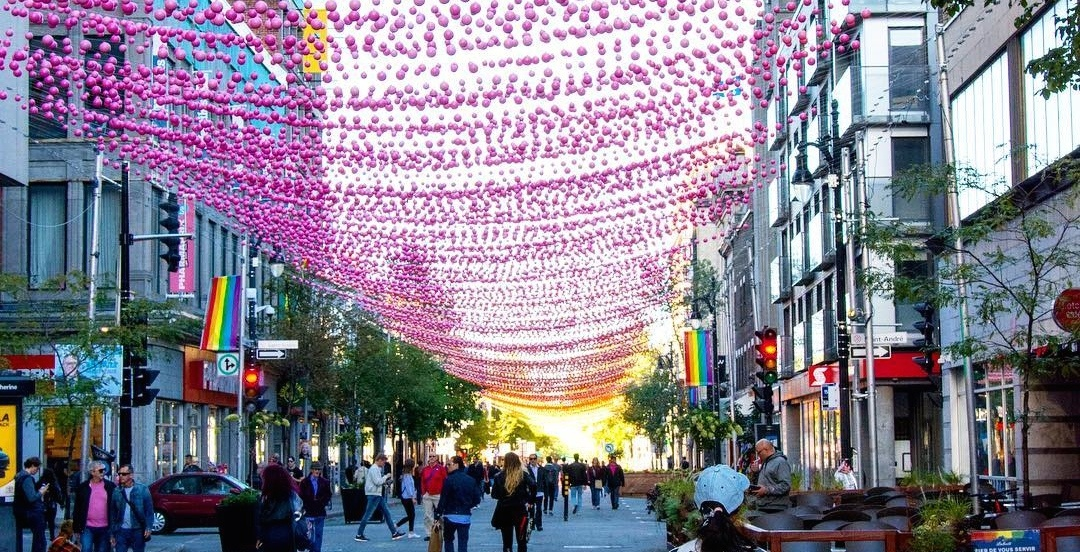 The Gay Village's iconic decorative balls have been set up for the last time (PHOTOS)
