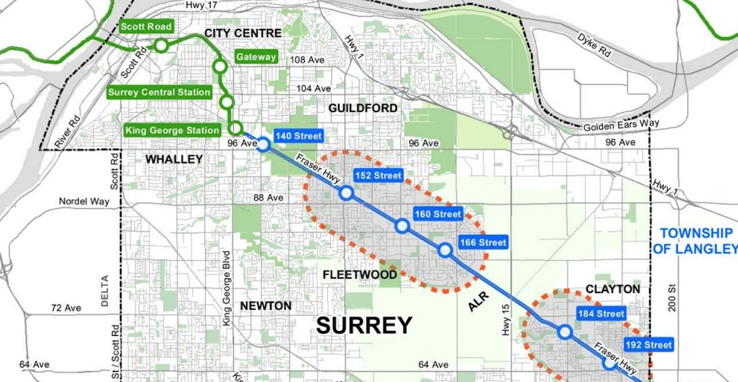 Fraser Highway SkyTrain Corridor Planning Areas