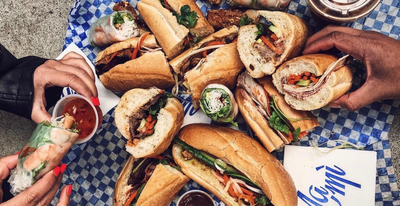 NaMì food cart is offering buy-one-get-one FREE bánh mì May 11 and 12