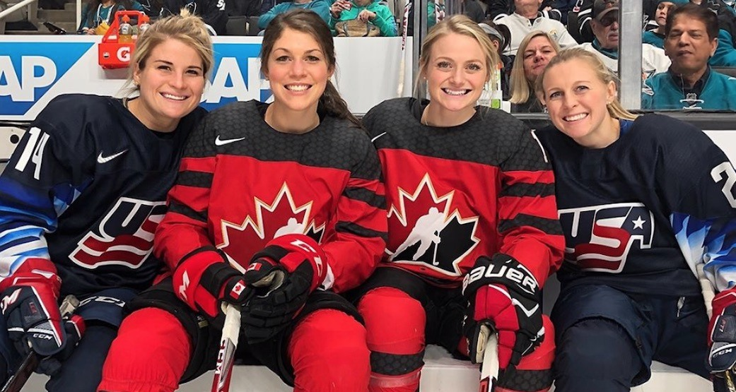 Womens players at nhl all star 2019