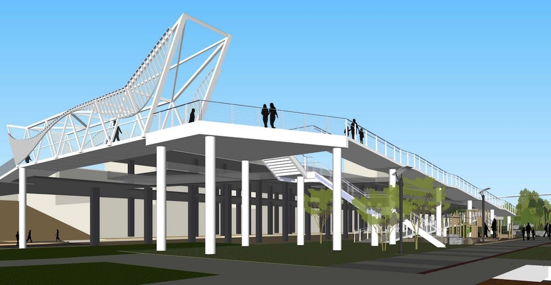 New pedestrian bridge and park expansion for New Westminster riverfront (RENDERINGS)