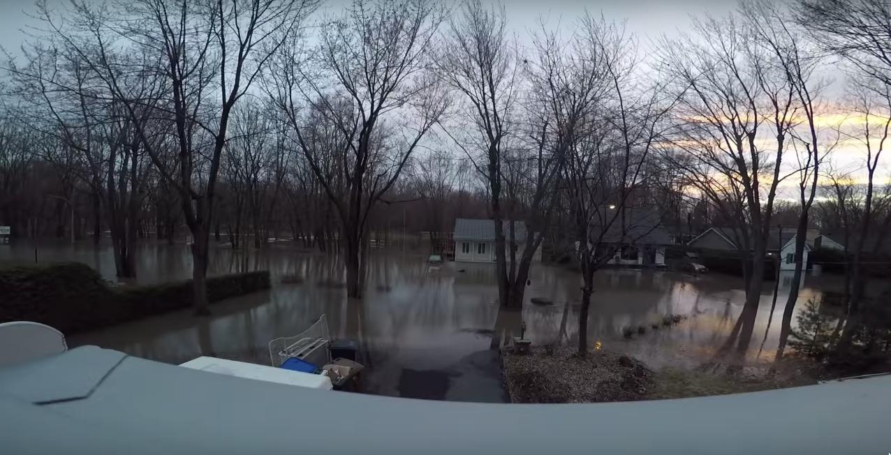 Quebec floods timelapse video gopro