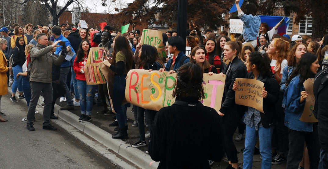 Thousands of students participate in walkout to protest UCP's GSA stance