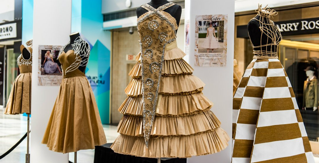 Paper Couture exhibition brings haute sustainable designs to Oakridge Centre