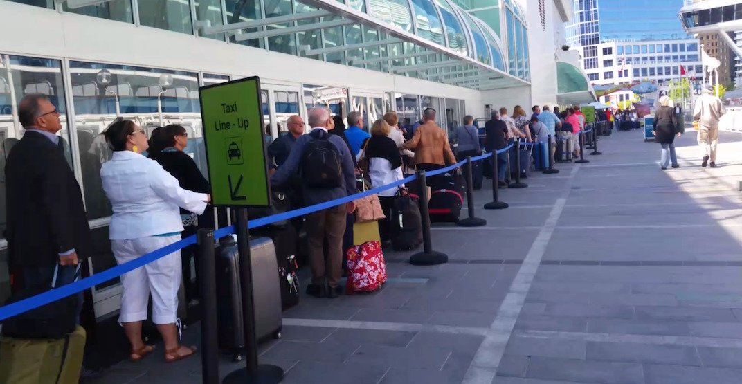 Canada place taxi lineup f