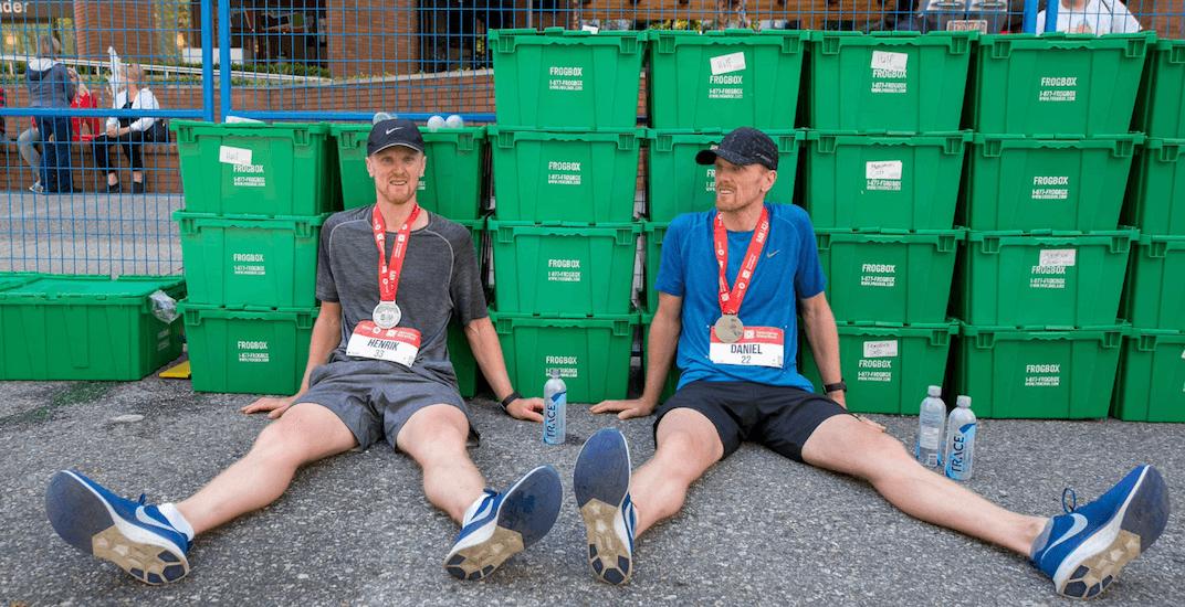 Henrik and Daniel Sedin compete in 2019 Vancouver Marathon (PHOTOS)