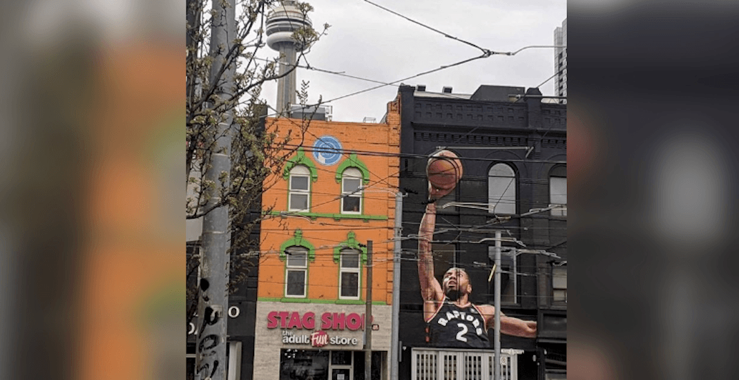 Giant Kawhi mural appears in downtown Toronto ahead of Game 5 (PHOTOS)