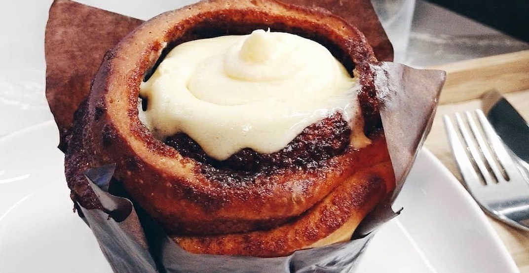 Angus T is offering buy-one-get-one FREE cinnamon buns May 11