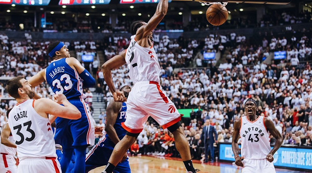 Raptors blow out 76ers in Game 5 to take series lead