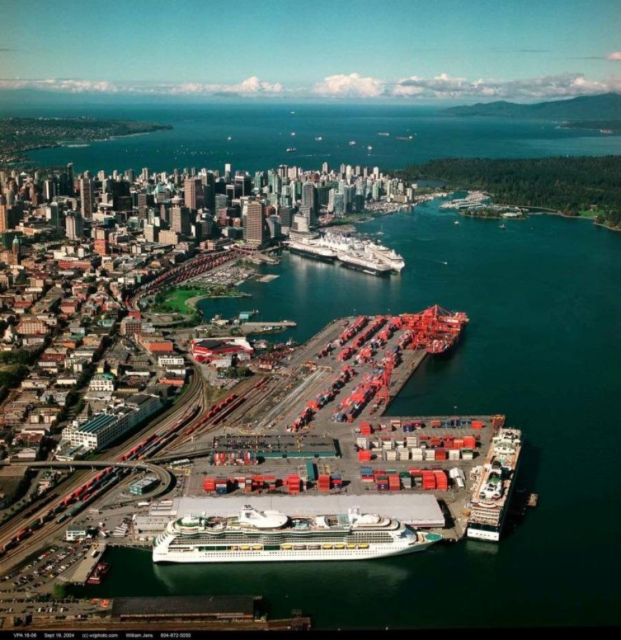 Port of Vancouver Ballantyne Pier cruise ships