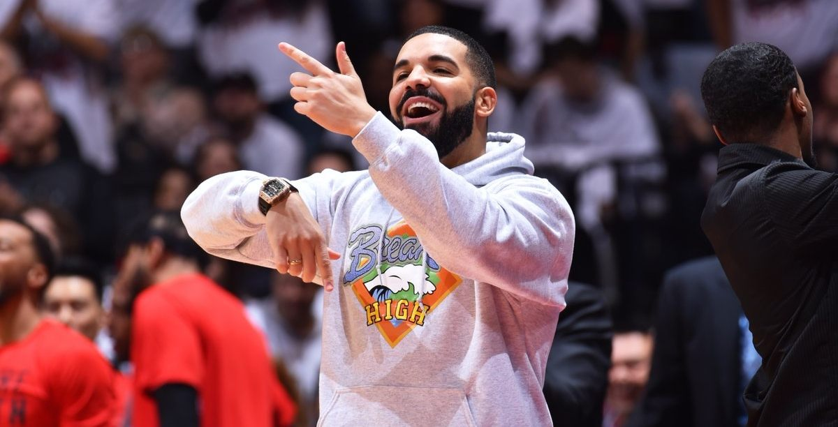 Drake went full Canada wearing a Breaker High hoodie at last night's Raptors' game