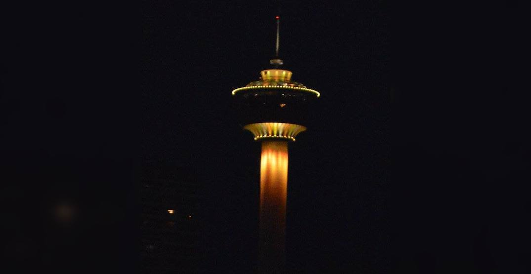 Calgary Tower lighting up yellow for mental health this week