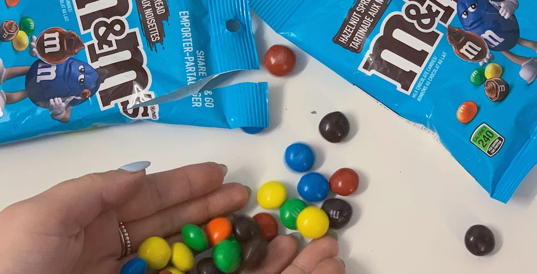 Brace yourselves, hazelnut spread M&M'S are now available in Canada