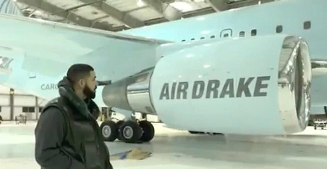 Drake shows off his new private Boeing 767 dubbed 'Air Drake'