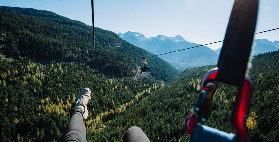 One of the world's most spectacular ziplines is actually in Whistler