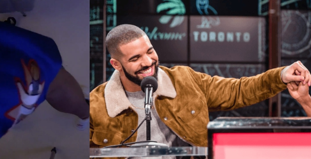 Drake wears 76ers shorts to reverse the curse for Raptors in Game 7 (VIDEO)