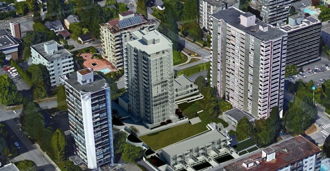 17-storey tower with 135 rental homes proposed for West Vancouver