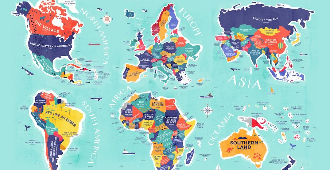 This map shows the literal translation of all country names