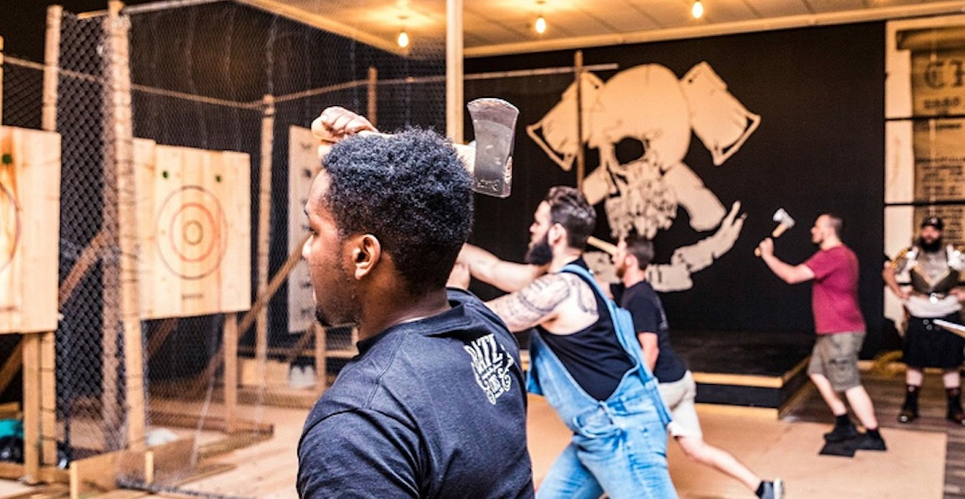 You can try axe throwing for FREE in Toronto this may