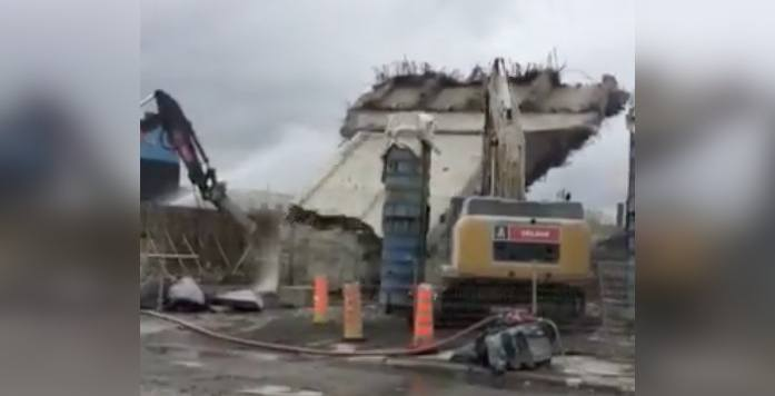 Watch the final pillar of the old Turcot Interchange get torn down (VIDEO)