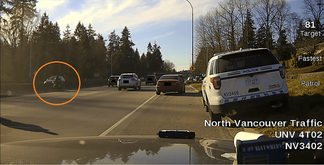 North Van motorcyclist charged with striking and injuring RCMP officer
