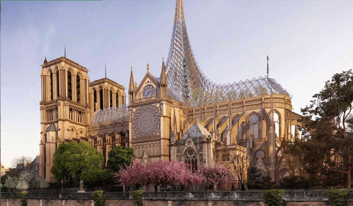 6 wildly ambitious proposals to rebuild Notre Dame
