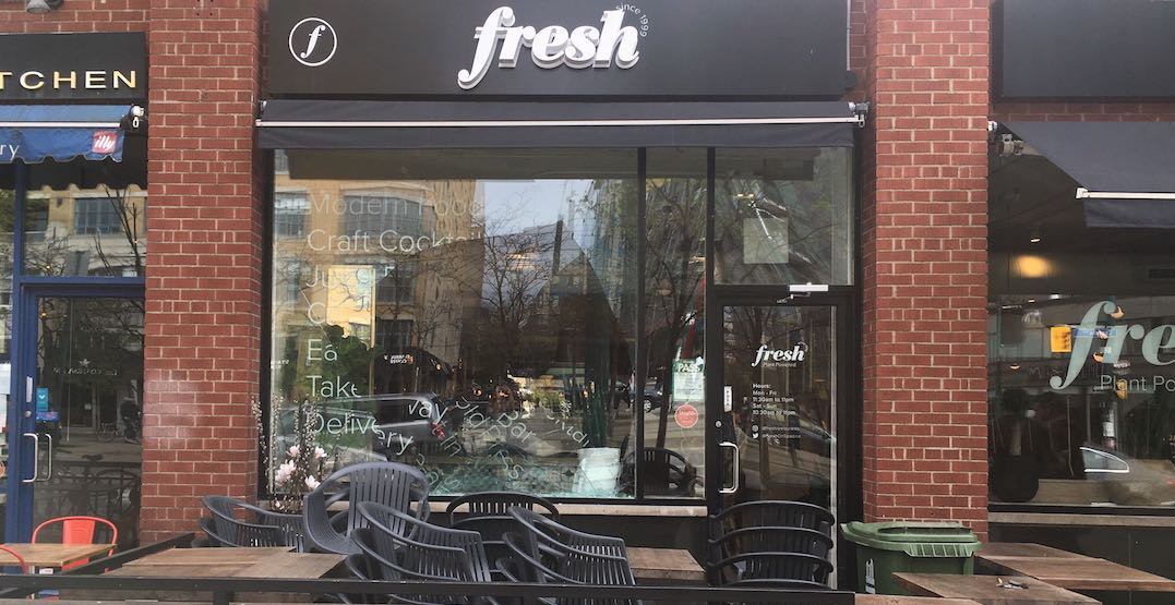 Vehicle crashes into storefront of Fresh on Spadina