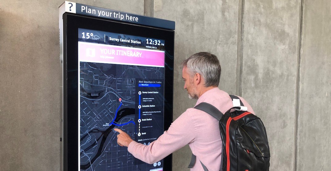 TransLink installing over 50 touch-screen kiosks on SkyTrain, SeaBus, and bus loops