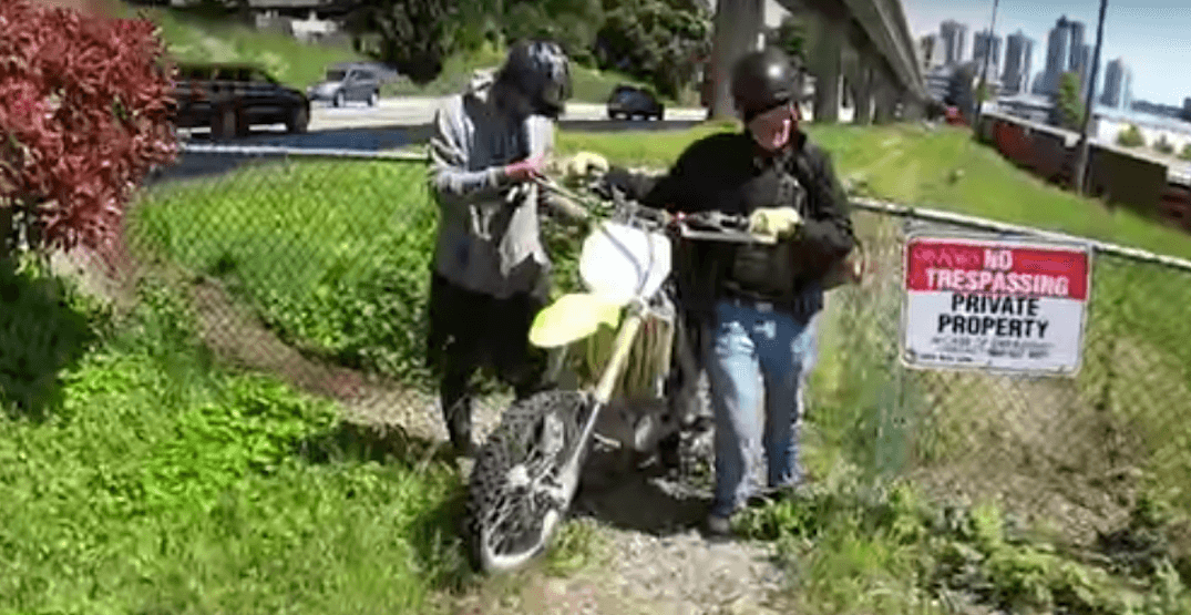 Taking 'long way home' results in recovery of stolen motorbike (VIDEO)