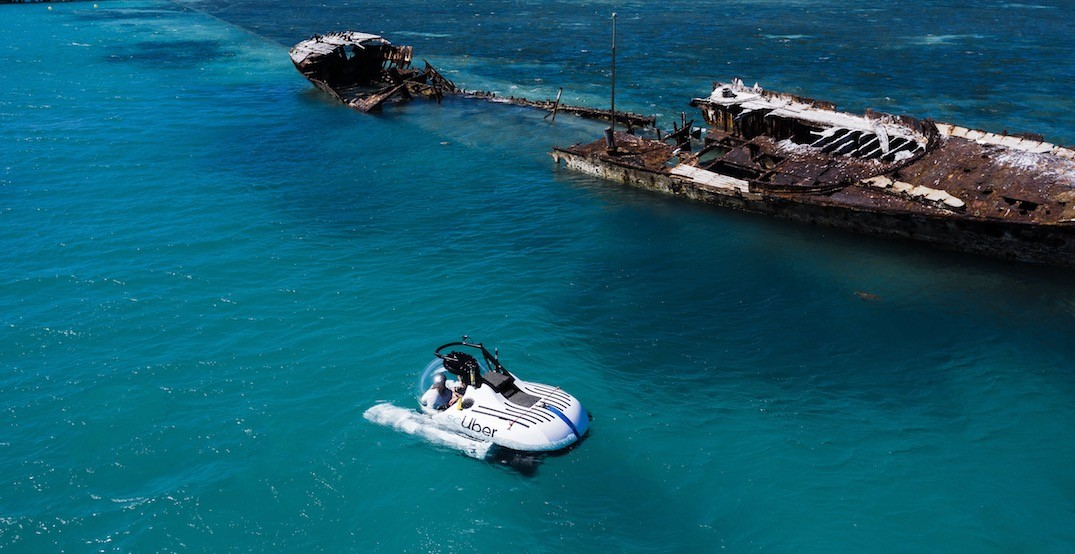 You can now Uber a submarine to the Great Barrier Reef