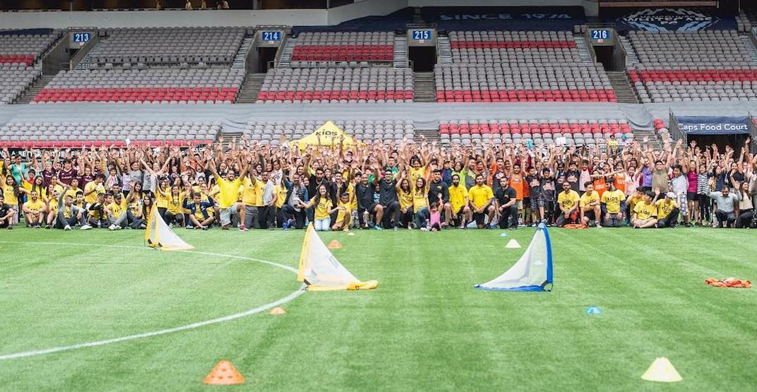 Hundreds of kids taking part in 7th annual free soccer tournament at BC Place