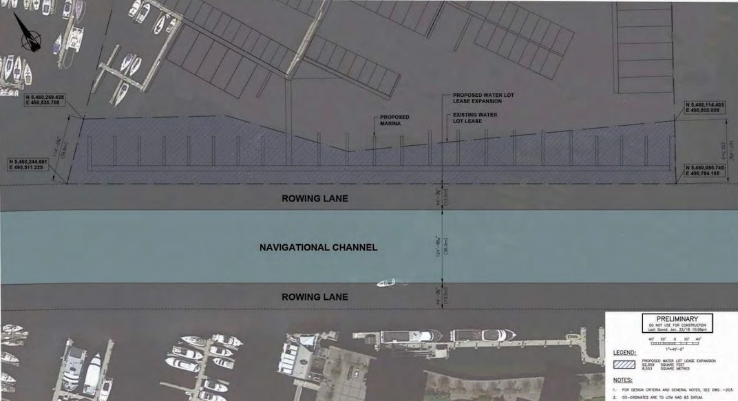 Coal Harbour Marina Expansion. (Royal Vancouver Yacht Club)