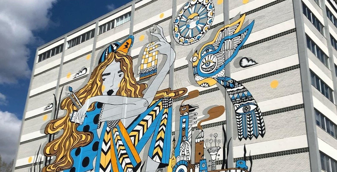 New 15,000 sq ft mural unveiled in Mile End last night (PHOTOS)