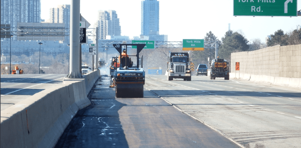 Rain reduces Don Valley Parkway maintenance closure to 1 day this weekend