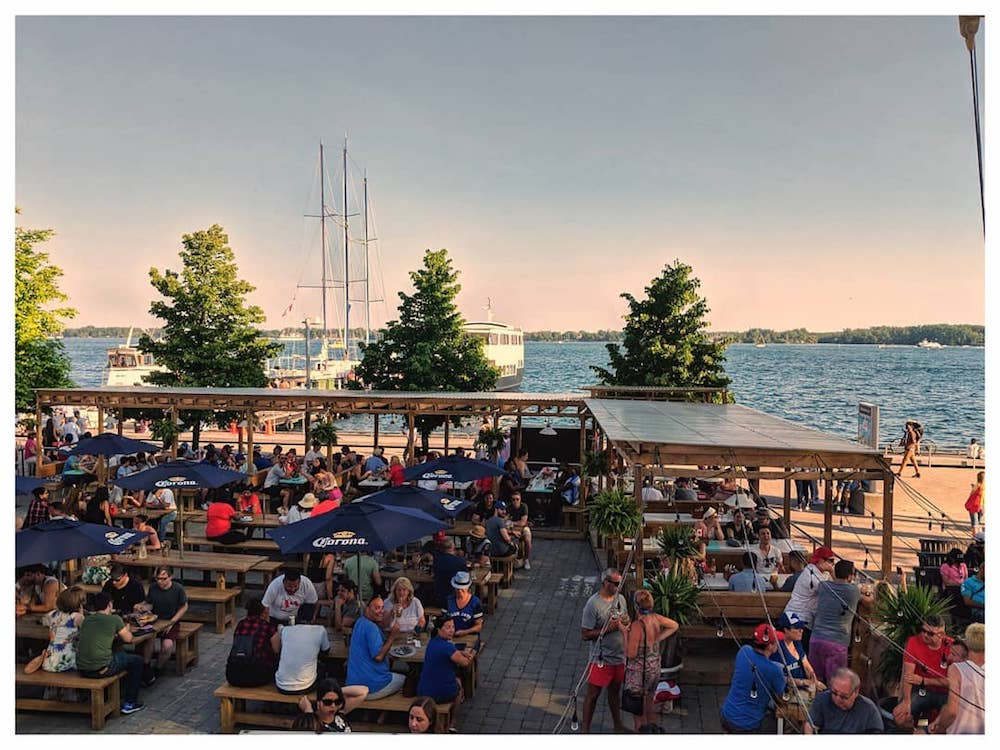 Waterfront patios