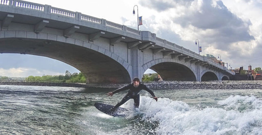 People are actually surfing on the Bow River (PHOTOS)