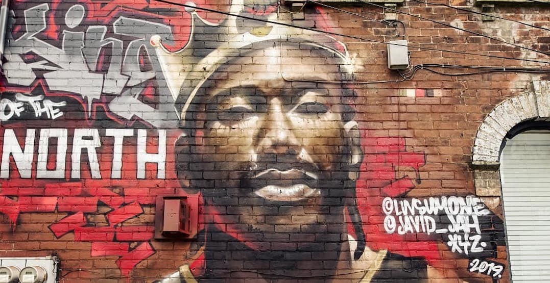 New Kawhi mural officially dubs him 'King of the North'