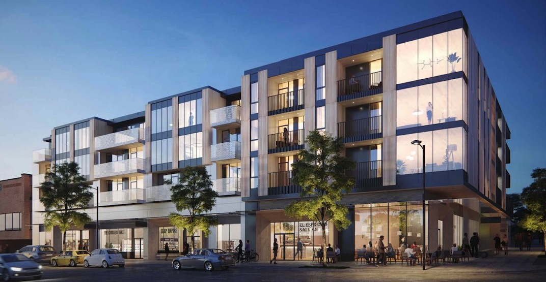 61 new homes and retail proposed for former Esso gas station site on East Broadway