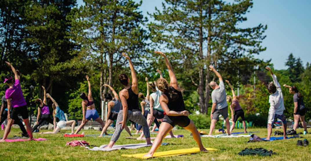 Free outdoor yoga classes return to Vancouver starting this weekend