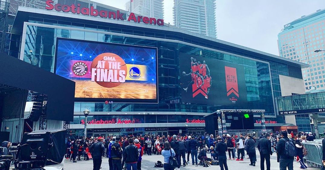 Fans have already started gathering in Jurassic Park ahead of tonight's Raptors game (PHOTOS)