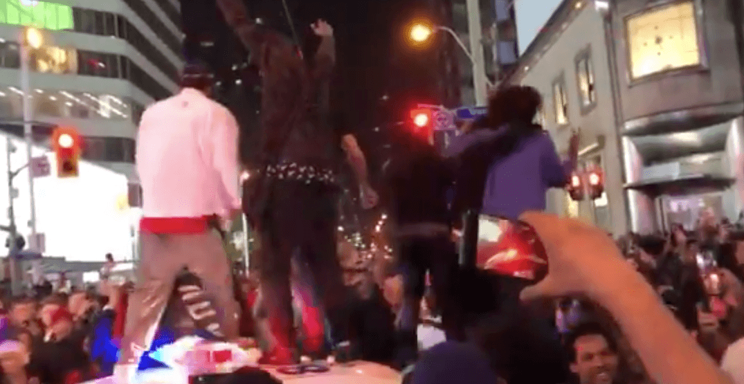 7 people wanted for partying on top of police car after Raptors Game 6 win: police