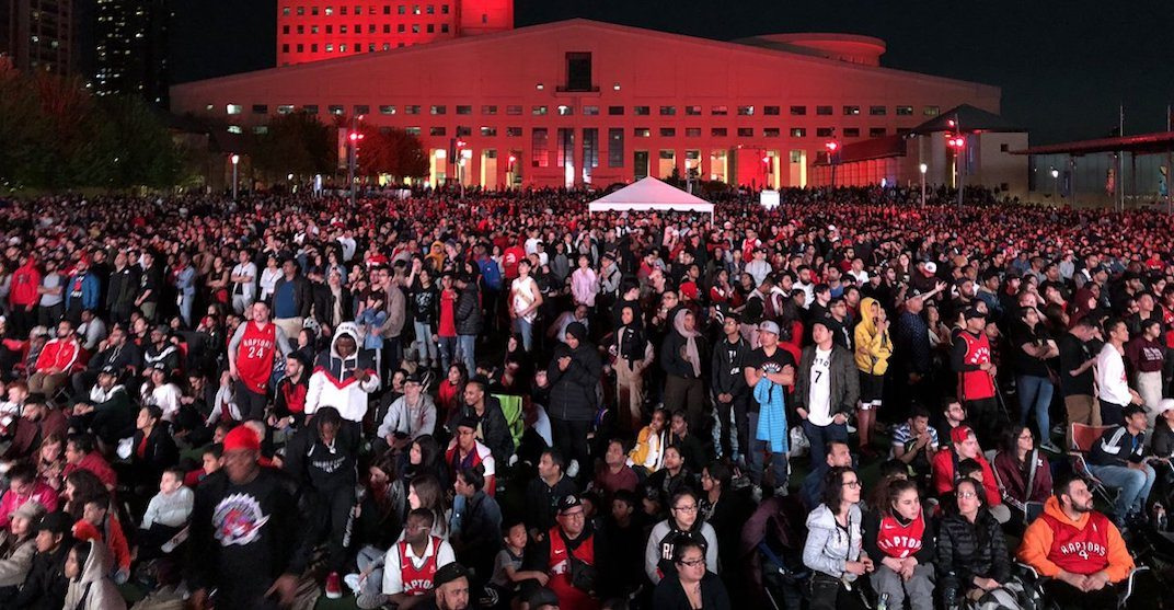 Thousands of Raptors fans partied in Mississauga and Brampton during Game 1 of NBA Finals (PHOTOS)
