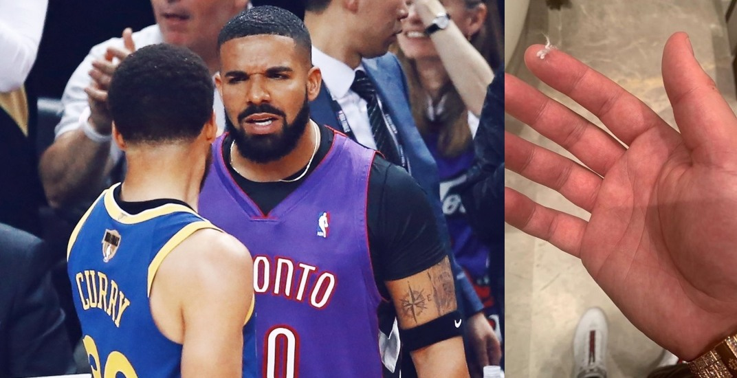 watch 6cc60 da828 Drake trolls Steph Curry by auctioning his hair lint on eBay ...